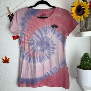 Pink and purple tie dye T-shirt | a.lab